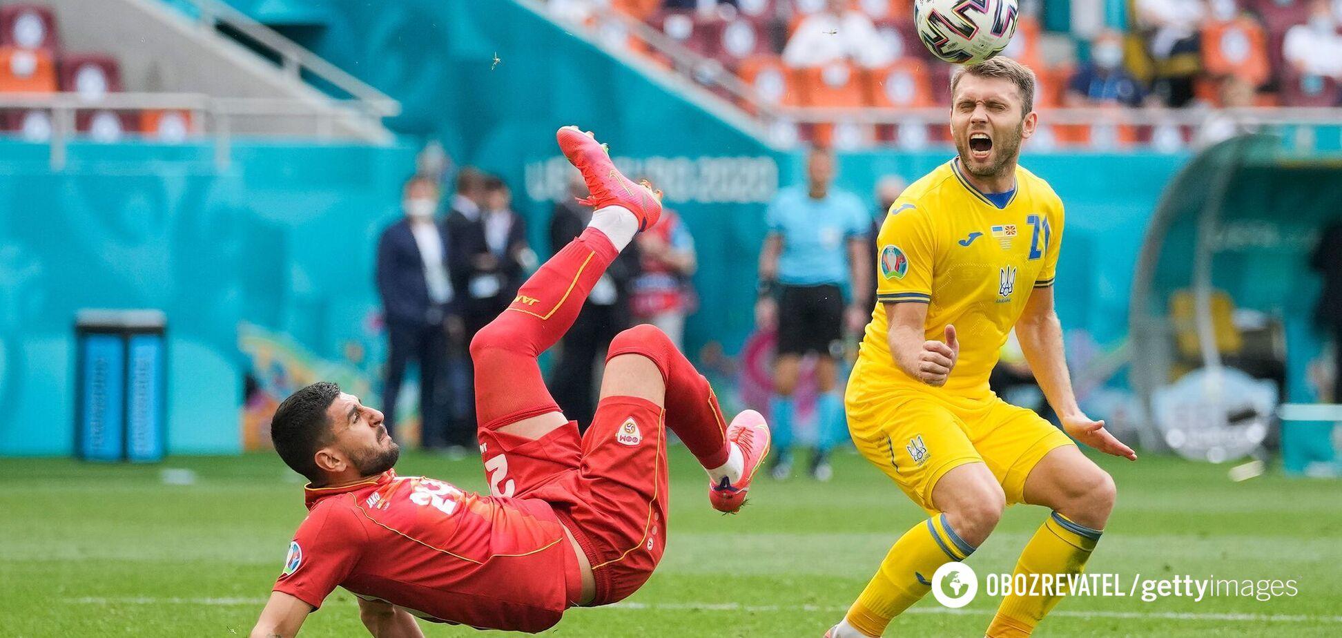 Александр Караваев отличился голевой передачей в матче с македонцами