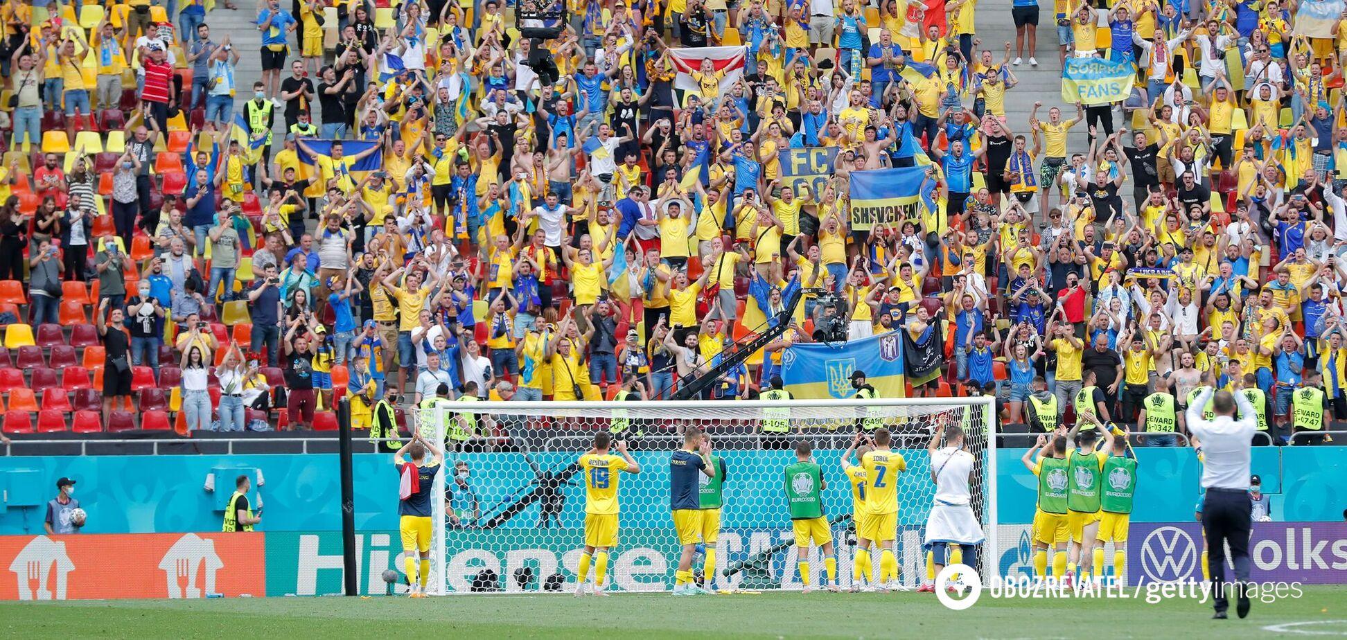 После победы в Бухаресте вся сборная Украины подошла к трибуне со своими болельщиками. Видео