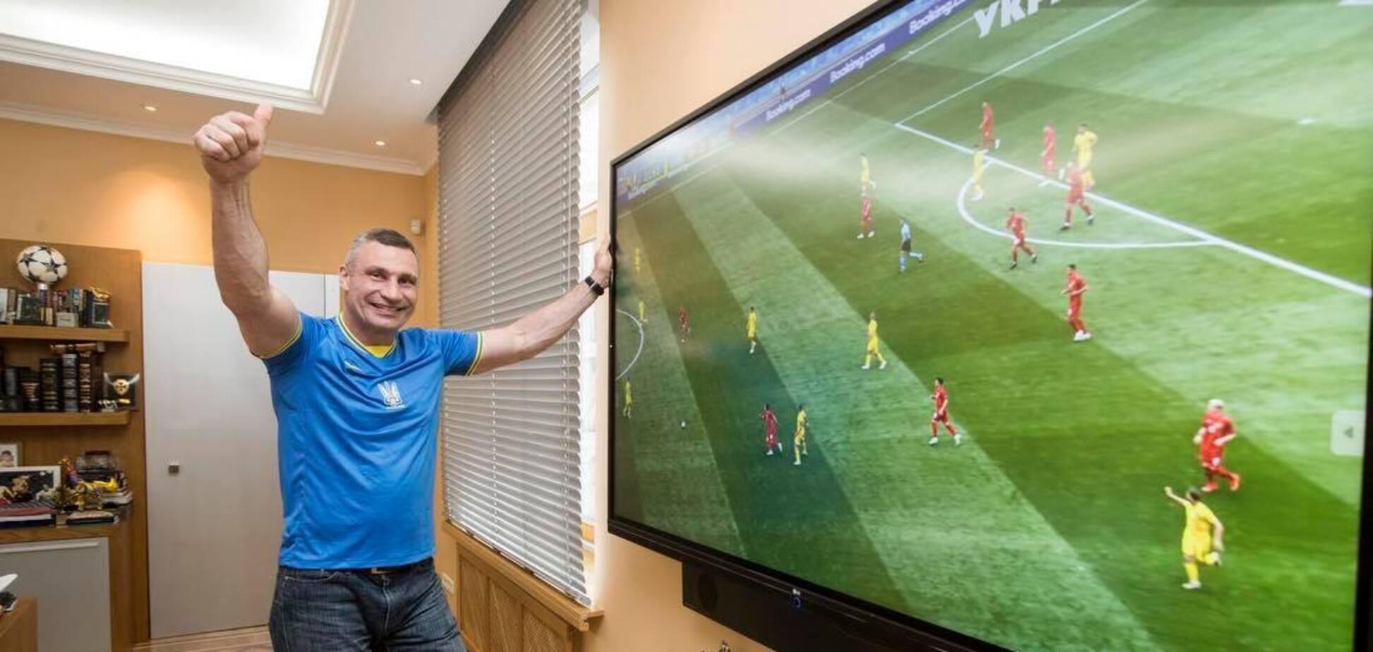 Кличко показал, как болеет за национальную сборную на Евро-2020