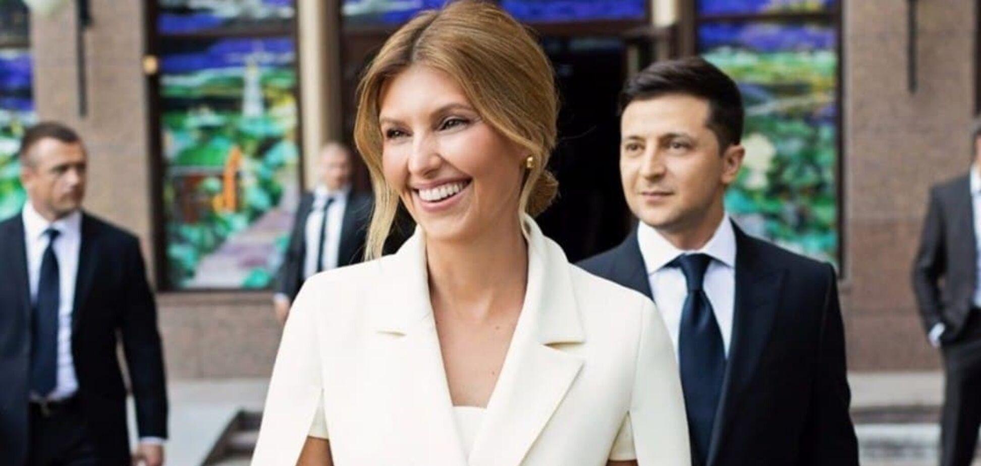 Елена Зеленская посетила Полтаву в стильном белом костюме. Фото