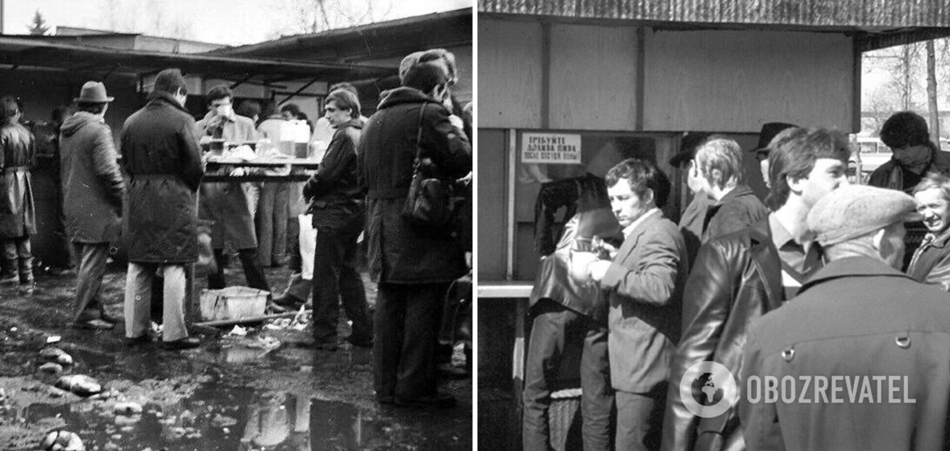 Пивная 'Семь дорог' в 1980-х годах работала в Петровском парке Москвы у метро 'Динамо'