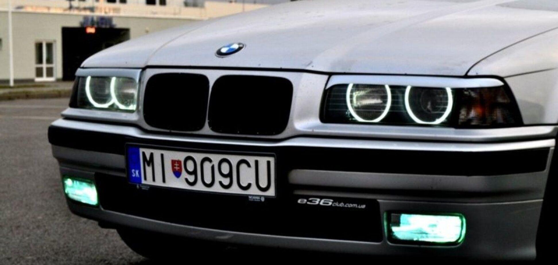 Автомобиль с европейскими номерами