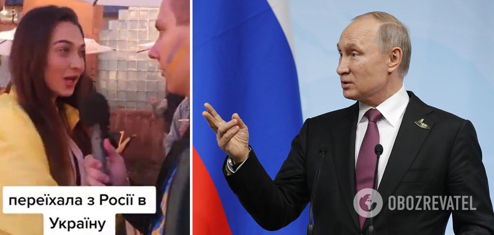 Росіянка здивувала журналіста словами про Росію і Путіна. Відео