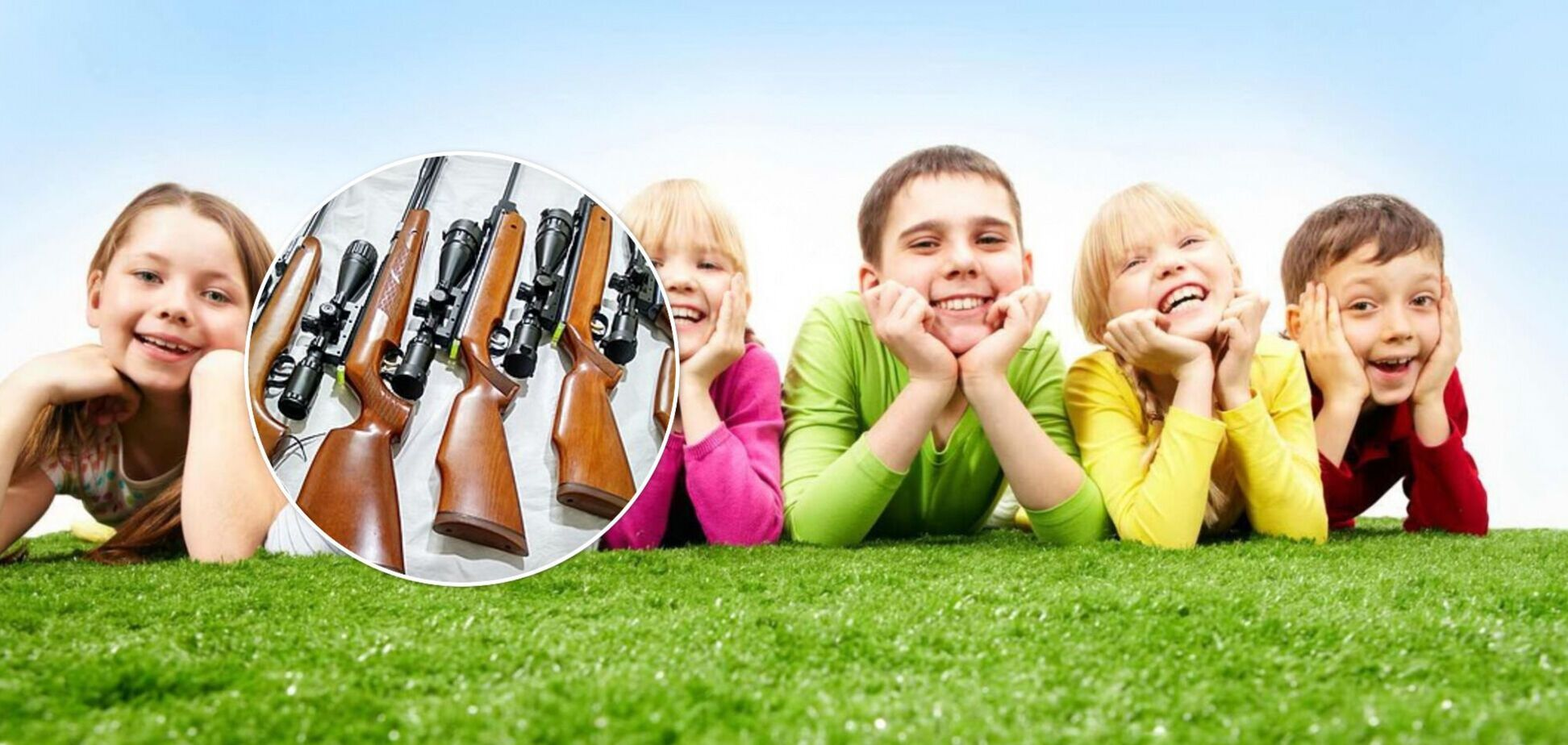 Під Києвом у дитячому таборі виявили арсенал зброї