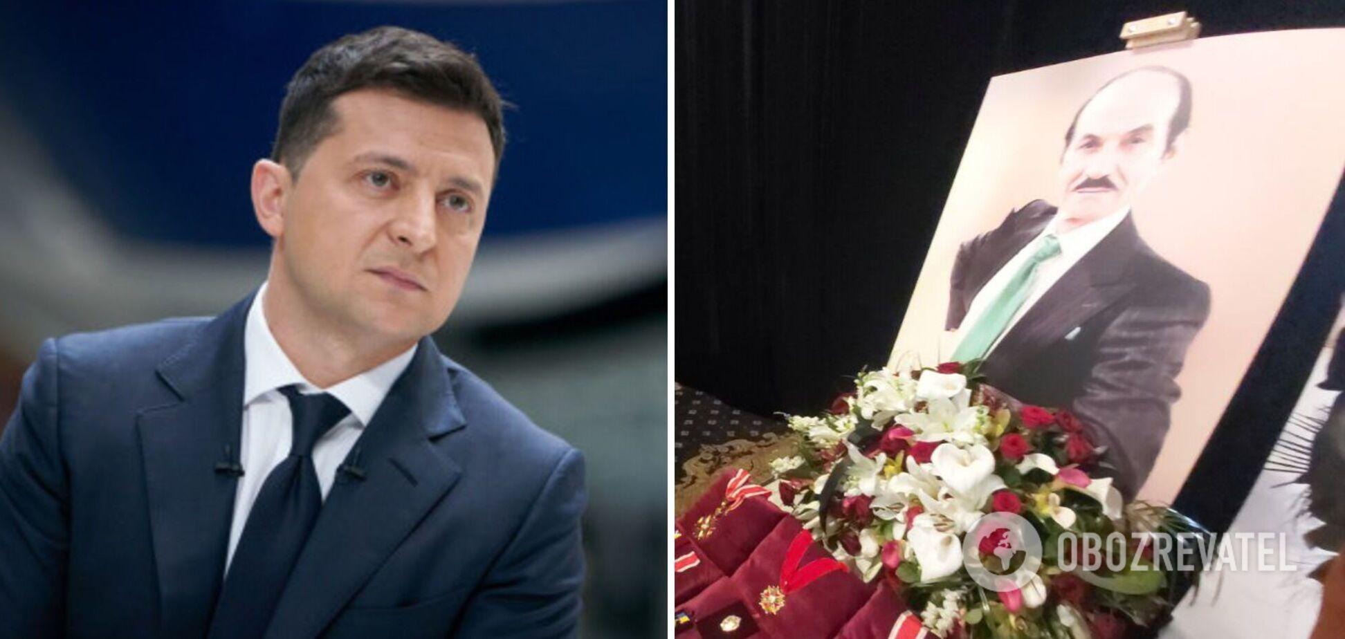 Владимир Зеленский приехал на церемонию прощания с Чапкисом. Фото