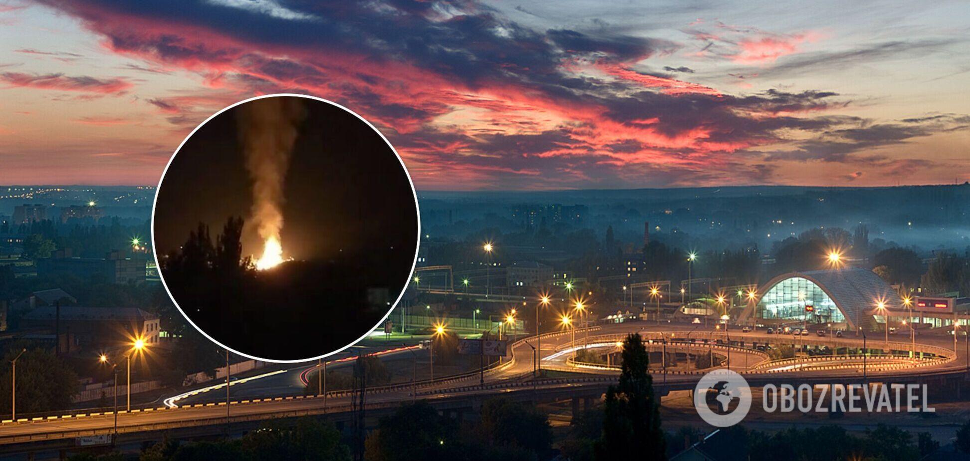 Вибух на газопроводі в Луганську