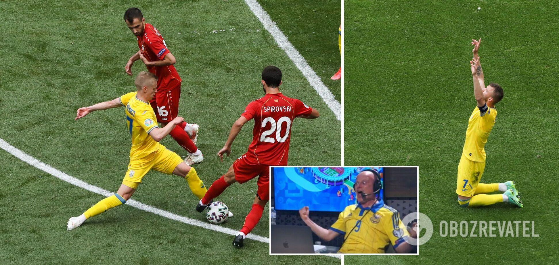 Появилось видео невероятных эмоций комментатора Вацко во время матча Евро-2020 с Македонией