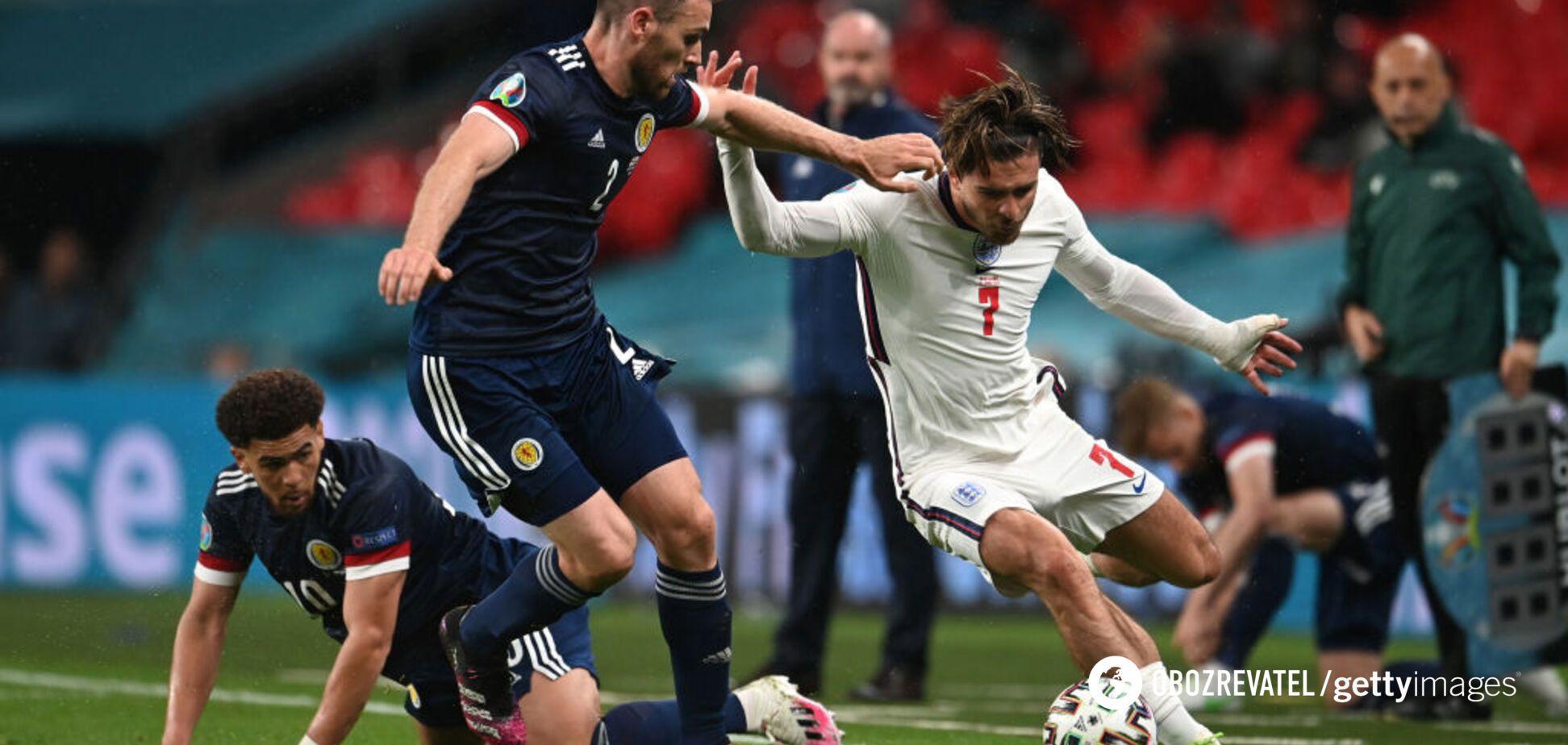 Англия не смогла победить Шотландию в британском дерби на Евро-2020. Видео