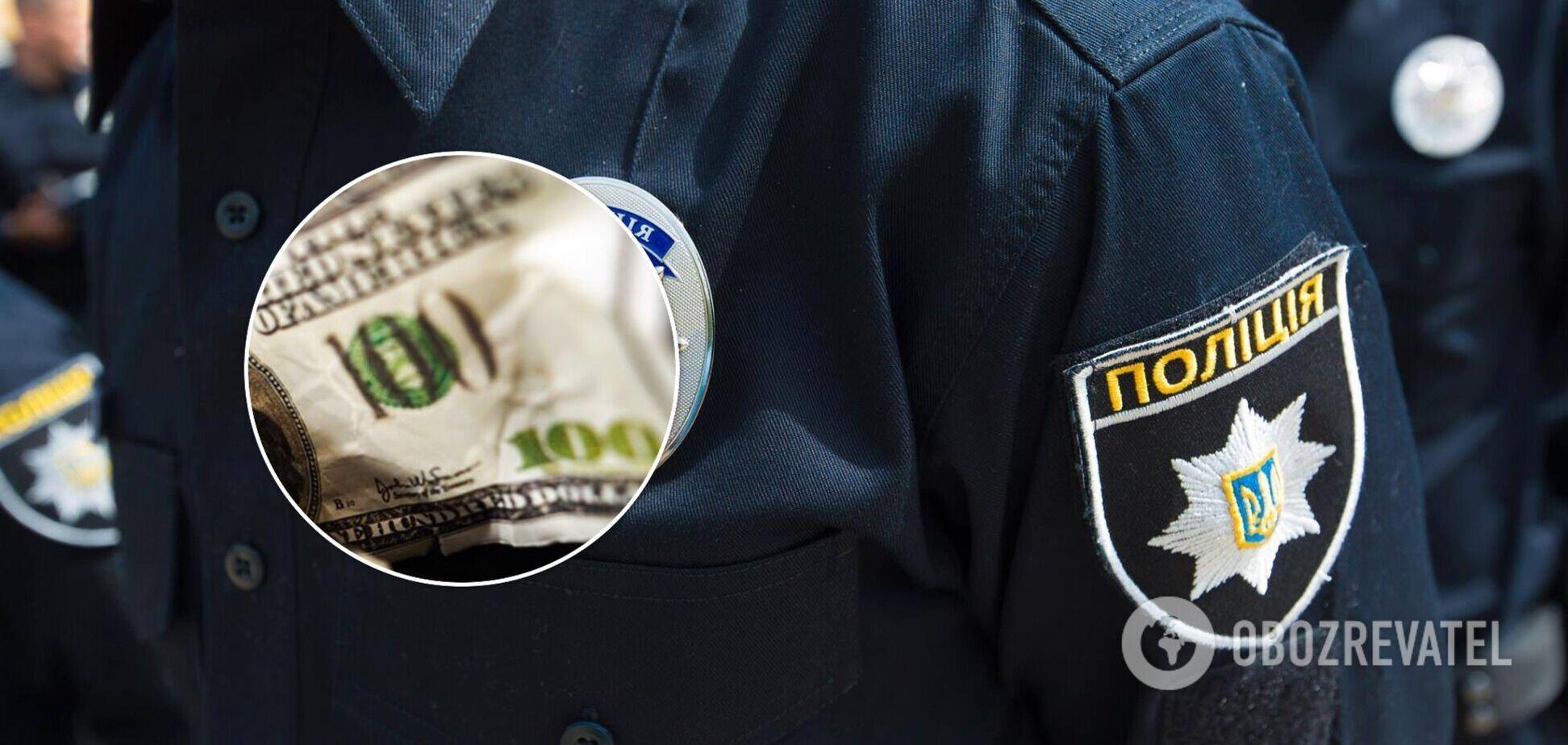 В Умані поліцейський намагався з'їсти частину хабаря під час затримання