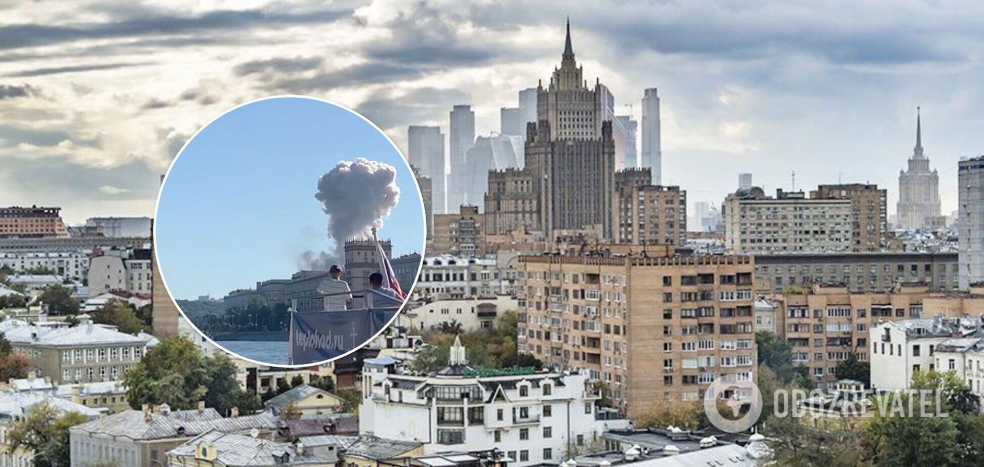 В Москве прогремела серия взрывов, начался пожар. Видео