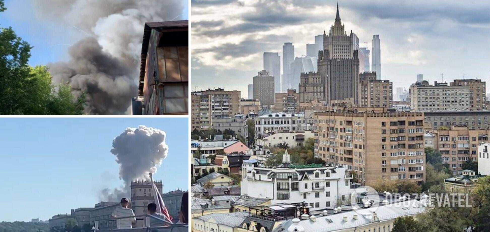 Пожар в Москве: произошел взрыв на складе пиротехники