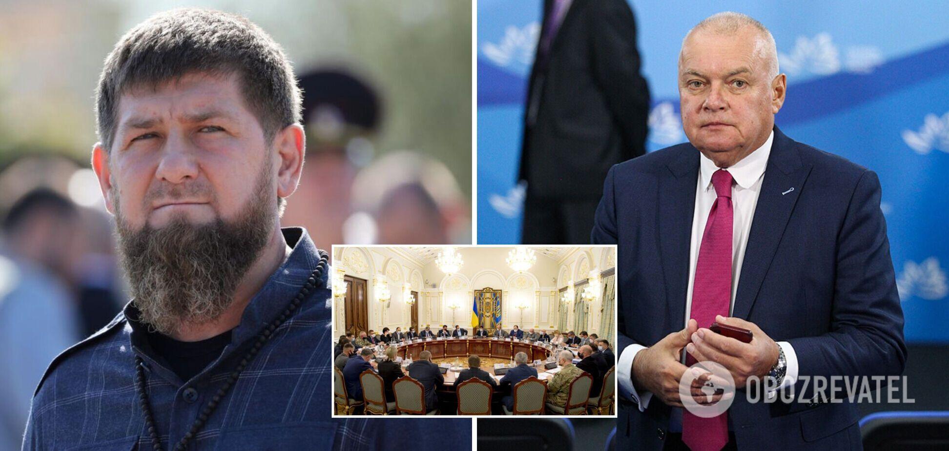 Украина продлила санкции против более 1,7 тысячи лиц: среди них Кадыров и Киселев