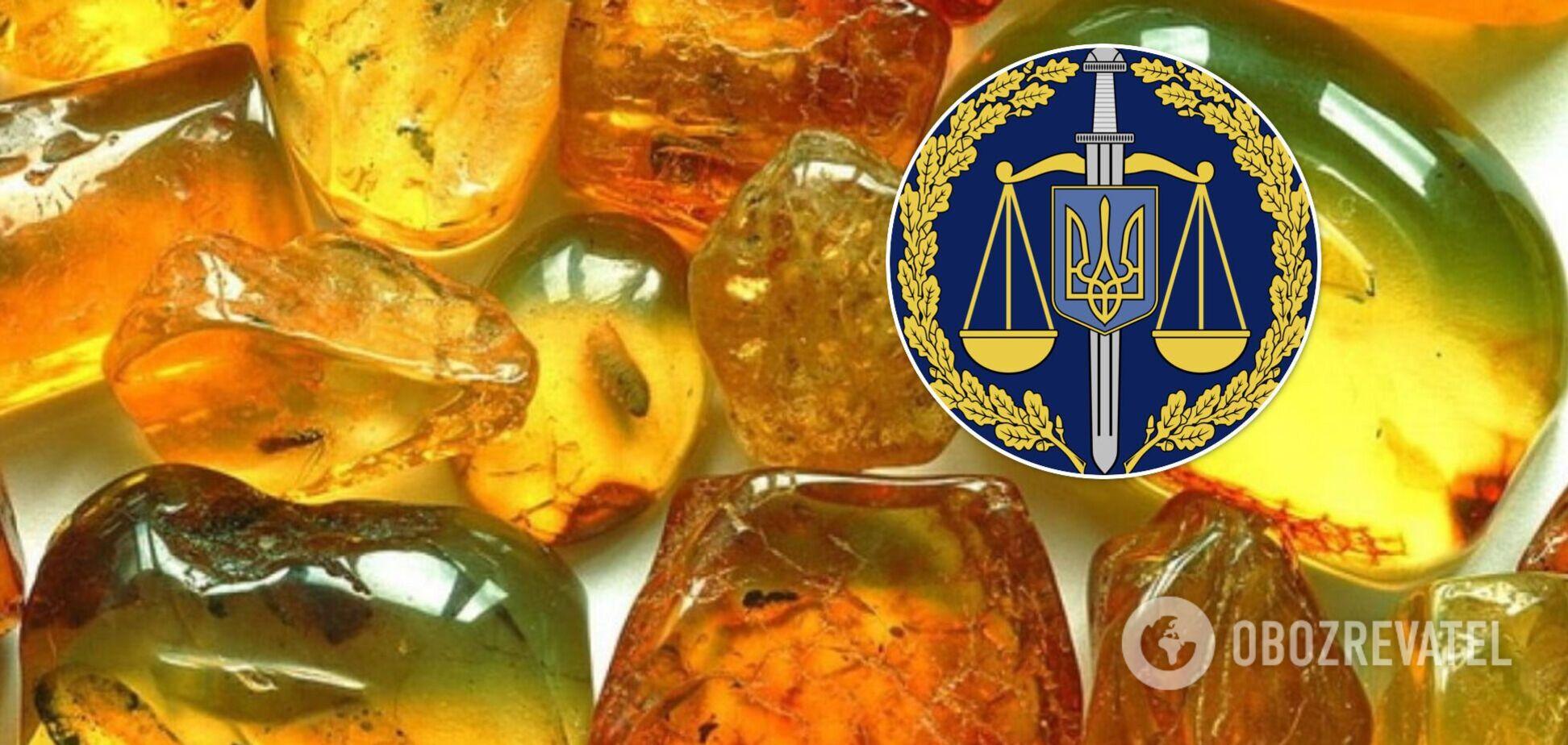В двух областях Украины изъяли тонну янтаря, который готовили на контрабанду. Фото