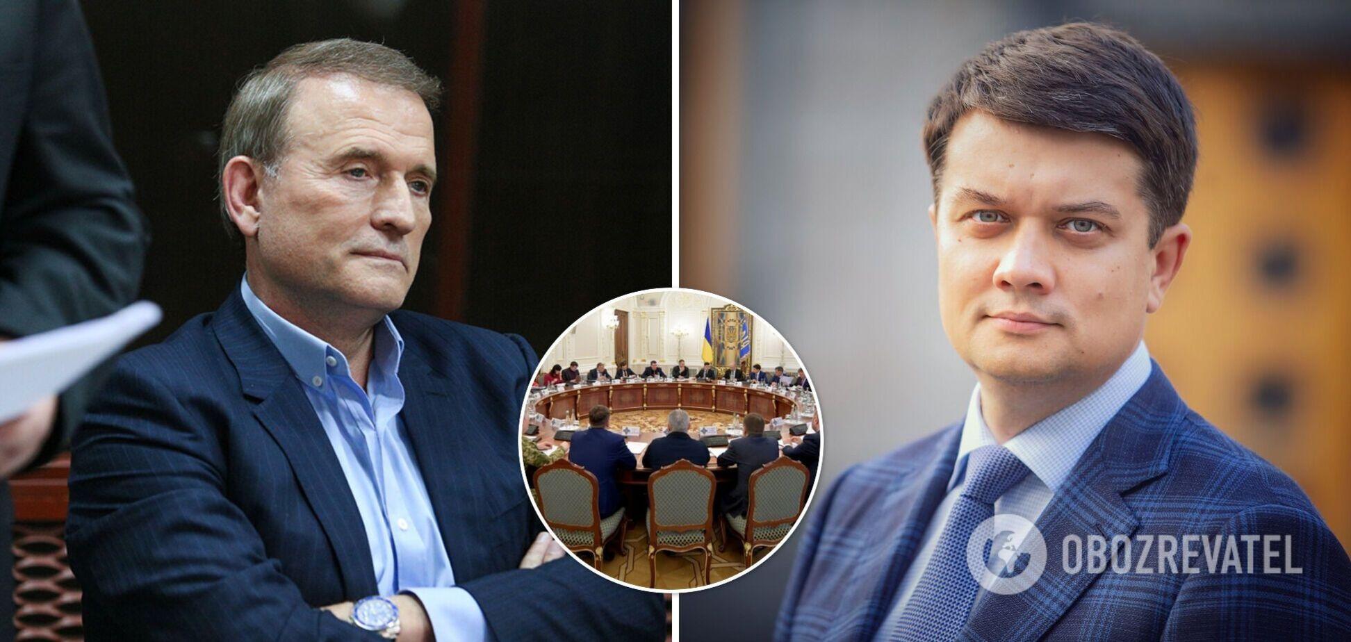 Разумков пояснив, чому не підтримав санкції РНБО проти Медведчука і Козака