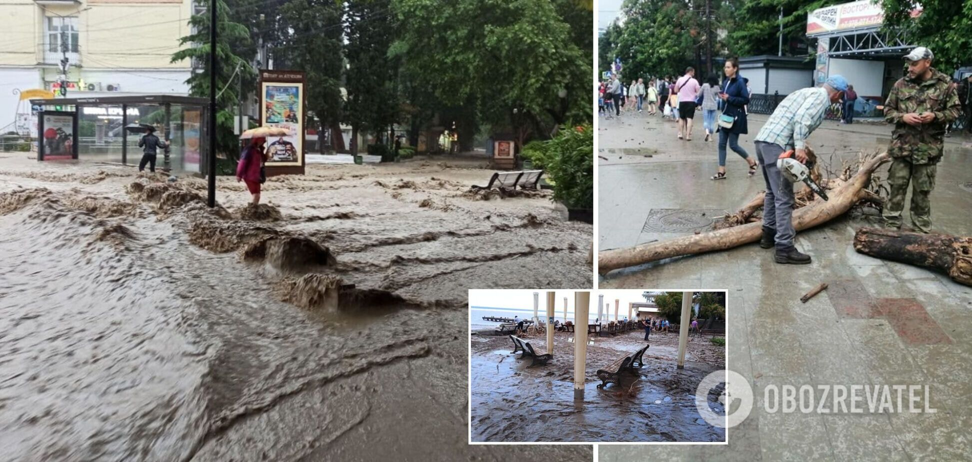 Потоп у Ялті: окупанти озвучили дані про загиблих і постраждалих. Нові фото