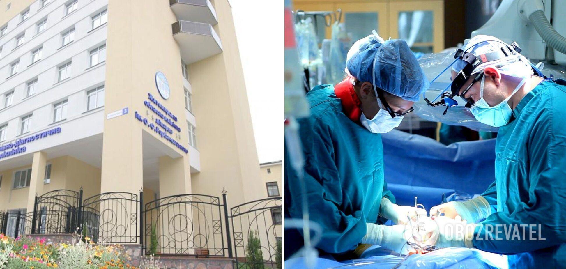 В областной больнице Житомира впервые провели трансплантацию почки