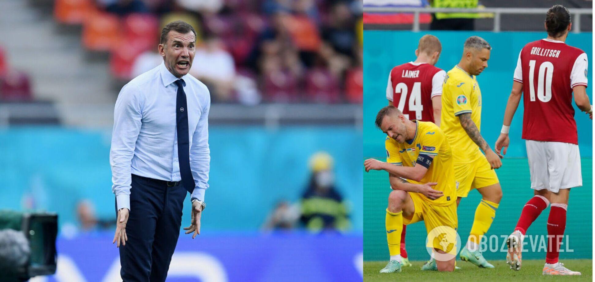 Андрій Шевченко назвав причини поразки України в матчі Євро-2020