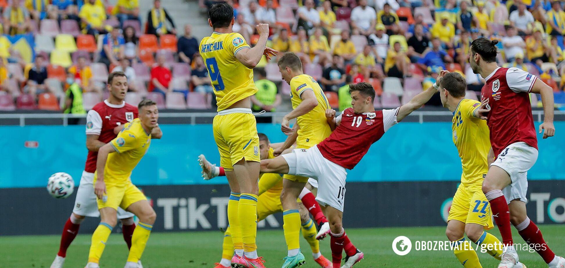 Украина Австрия голы