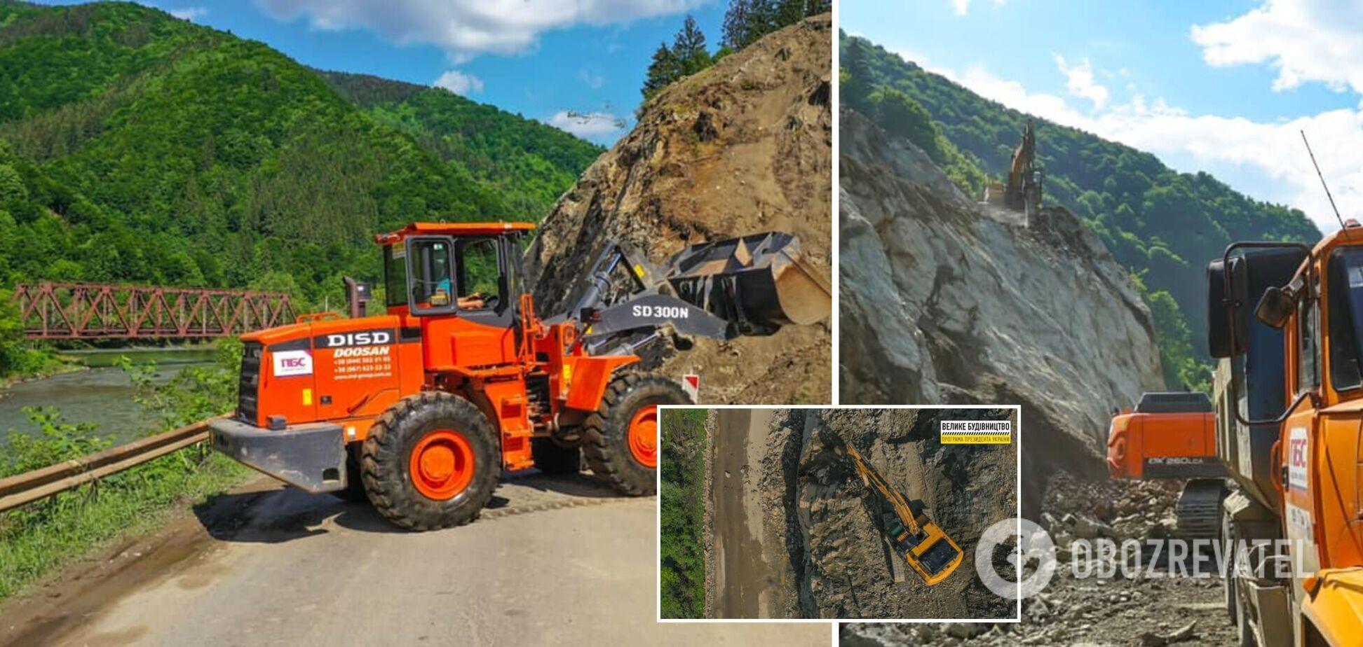 На Закарпатті розбирають скелю для 'Великого будівництва' важливої магістралі