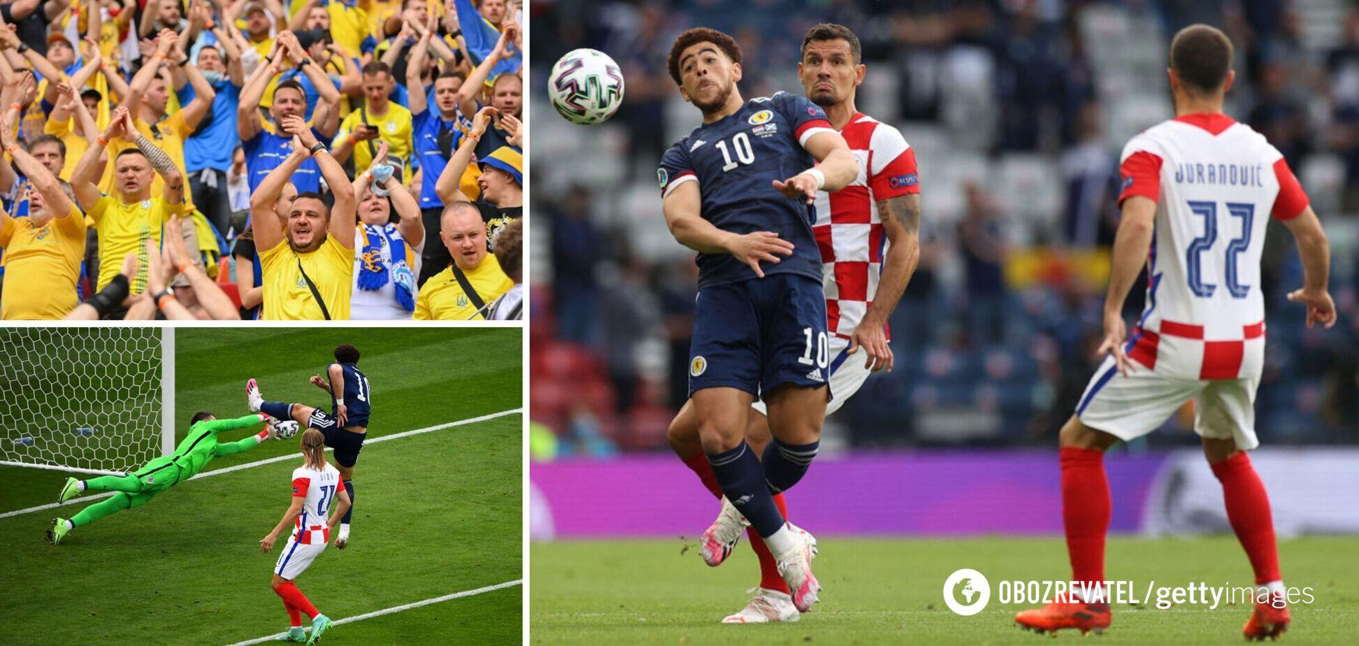 Украине нужна ничью я матче Хорватия - Шотландия