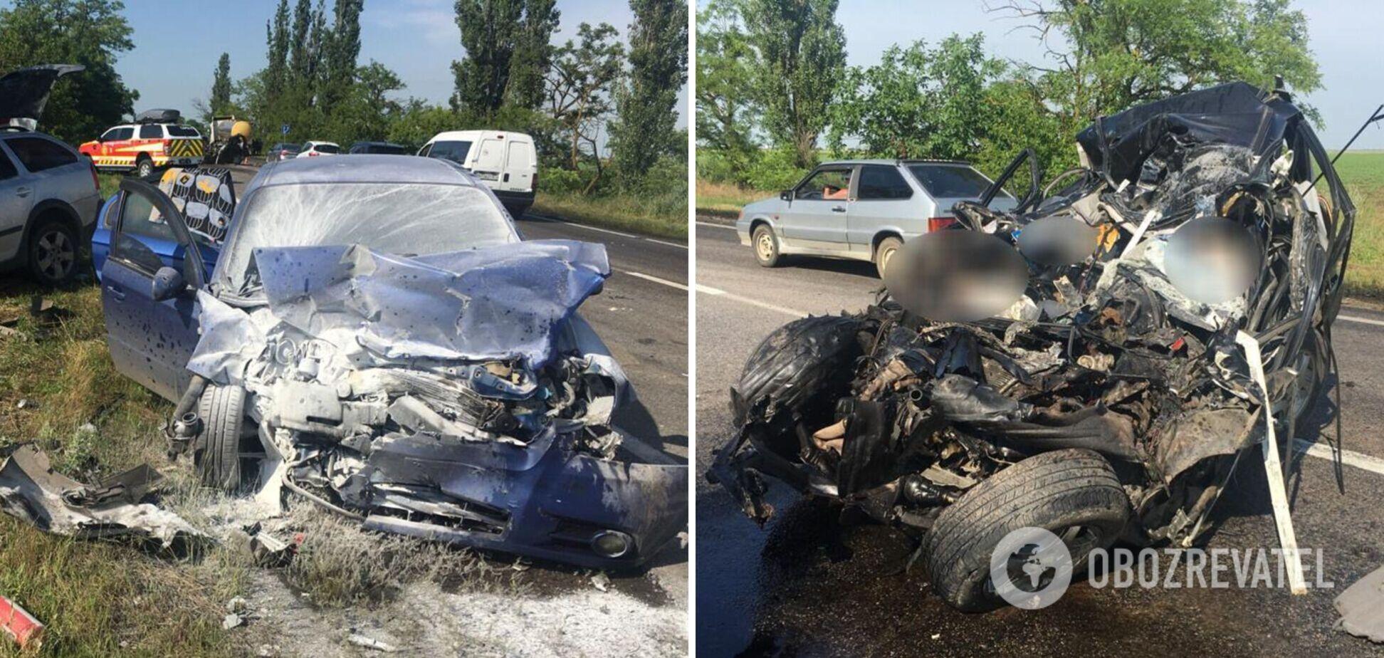 На трассе Одесса – Мелитополь столкнулись пять авто