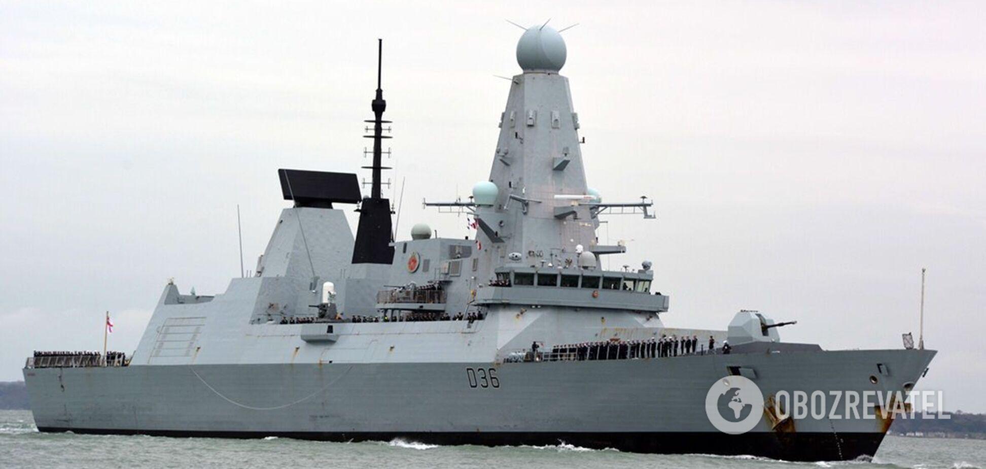 Движение эсминца Defender у берегов оккупированного Крыма