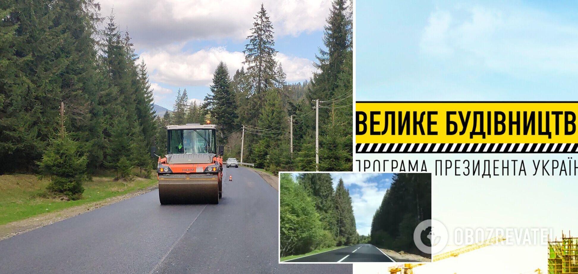 'Большая стройка' Зеленского обеспечила обновленную дорогу по 'Золотому кольцу Карпат'