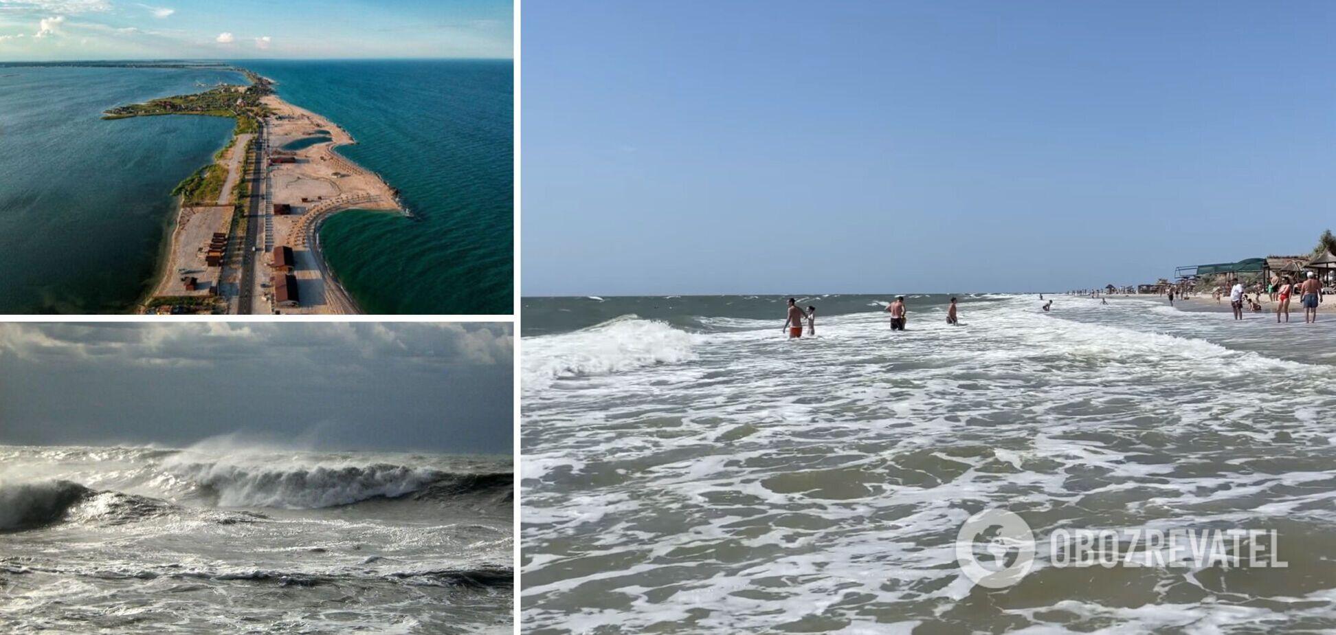 На Азовском море туристы не купаются из-за шторма