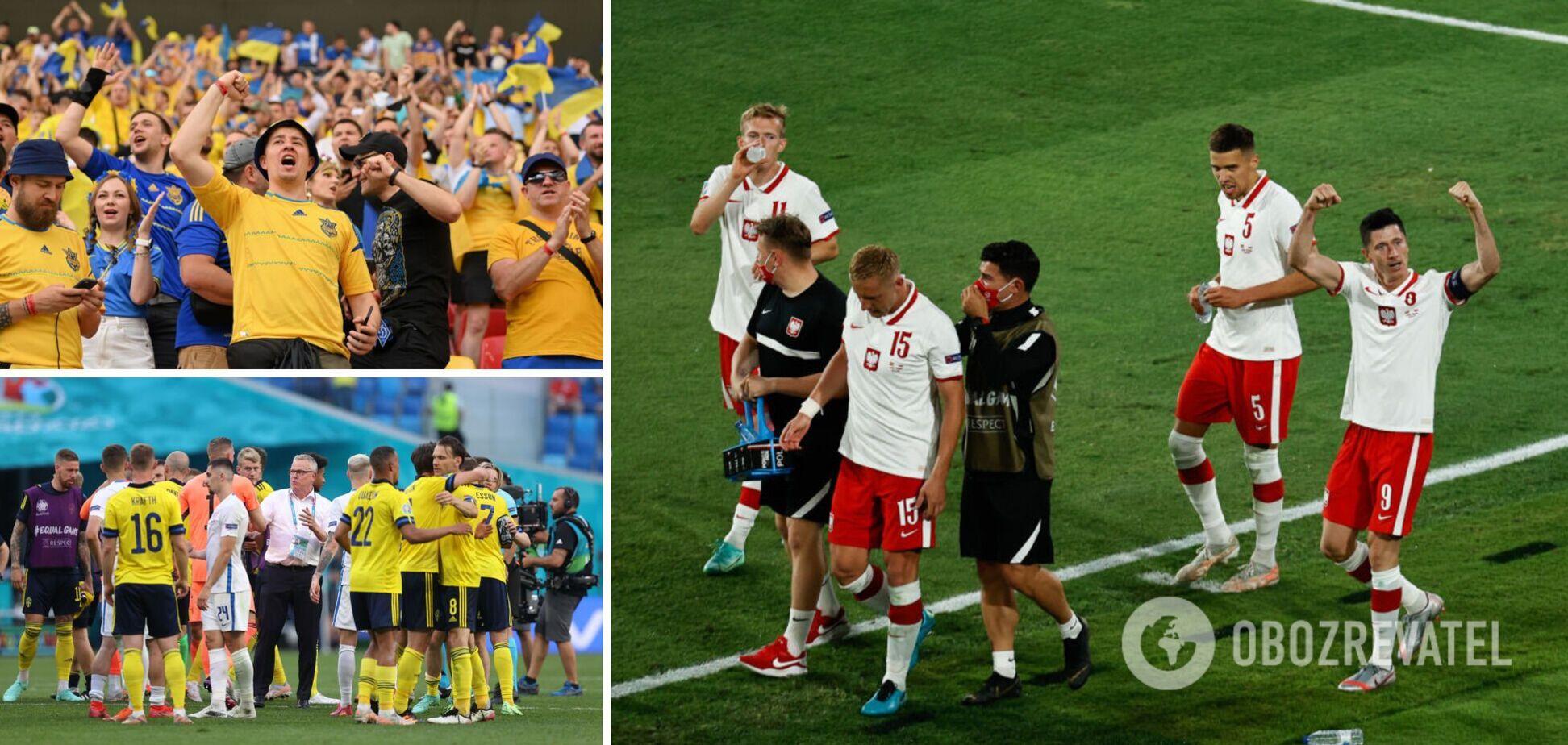 Швеція і Польща можуть вирішити долю України на Євро-2020