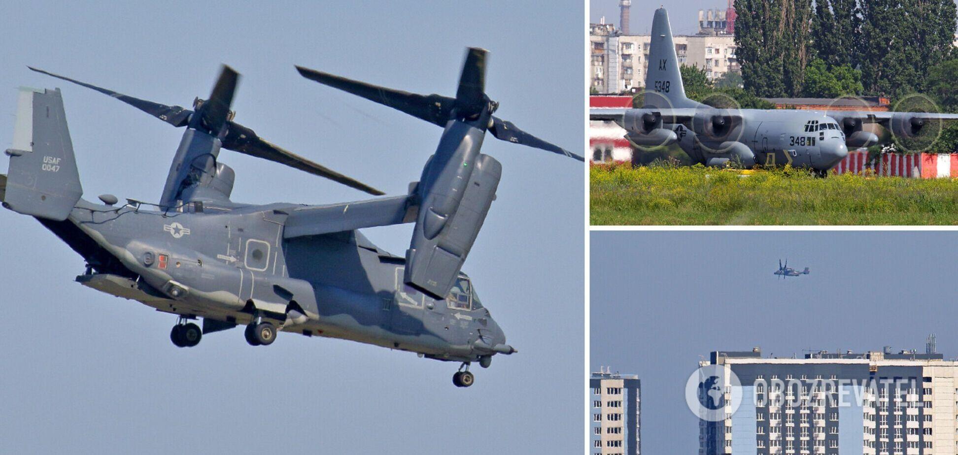 В Одесі помітили конвертоплани і транспортний літак США. Фото