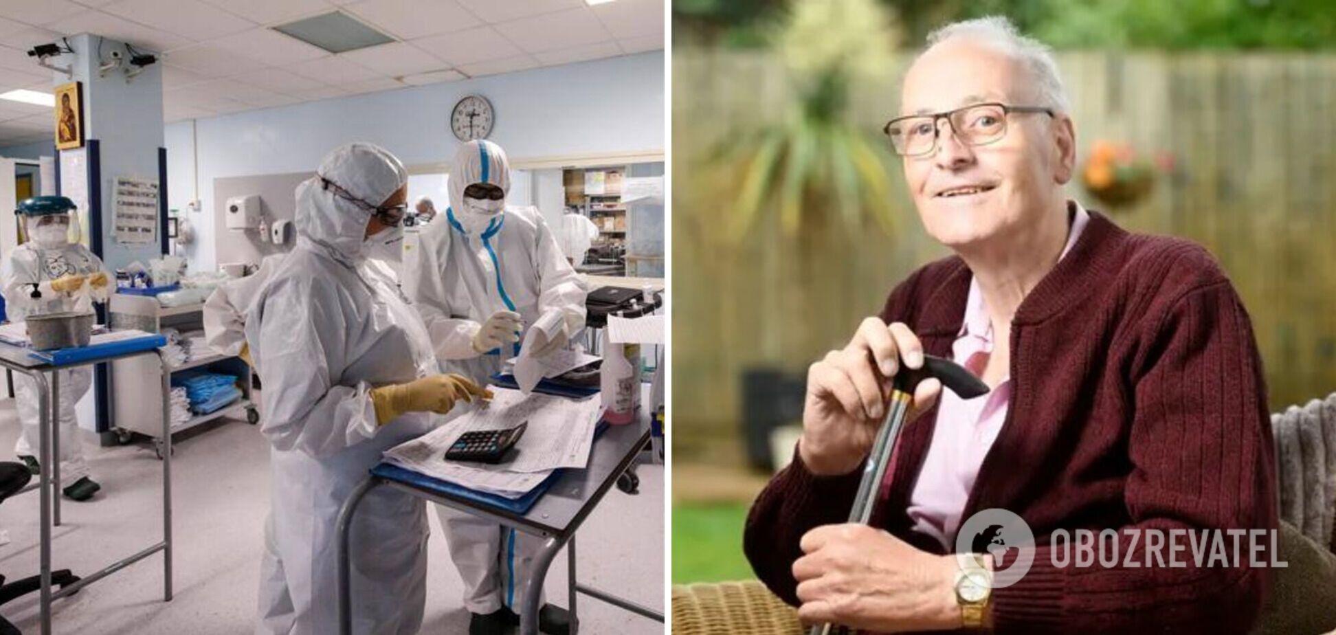 72-летний британец установил рекорд по продолжительности течения COVID-19: жена 5 раз готовилась к его похоронам