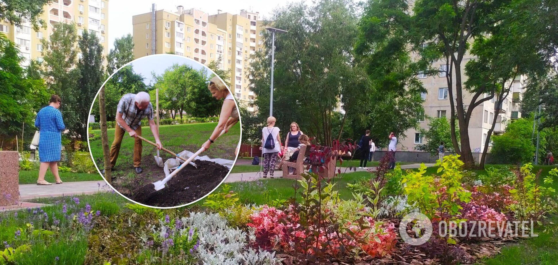 У Києві один зі скверів змінився до невпізнаваності. Фото