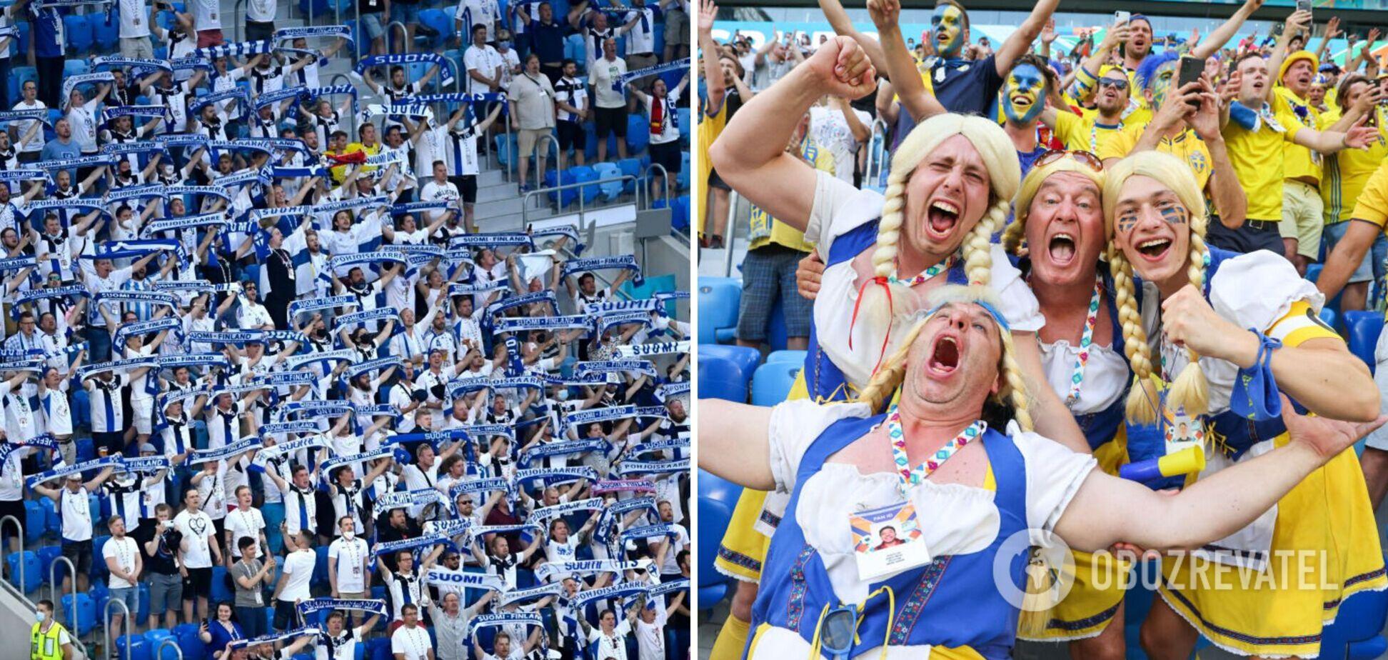 Финны и шведы посещали матчи в России