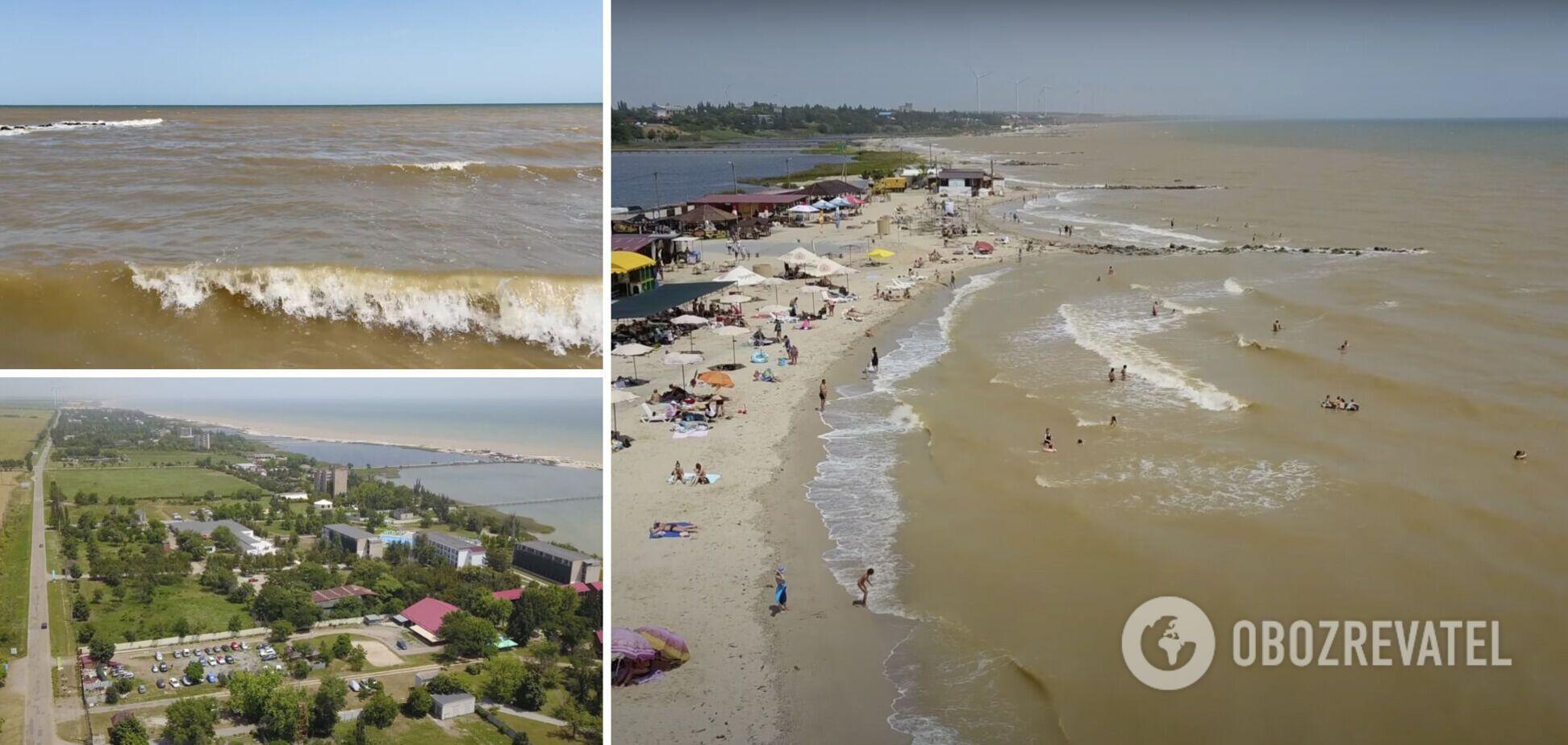 На Азовском море шторм и мутная вода