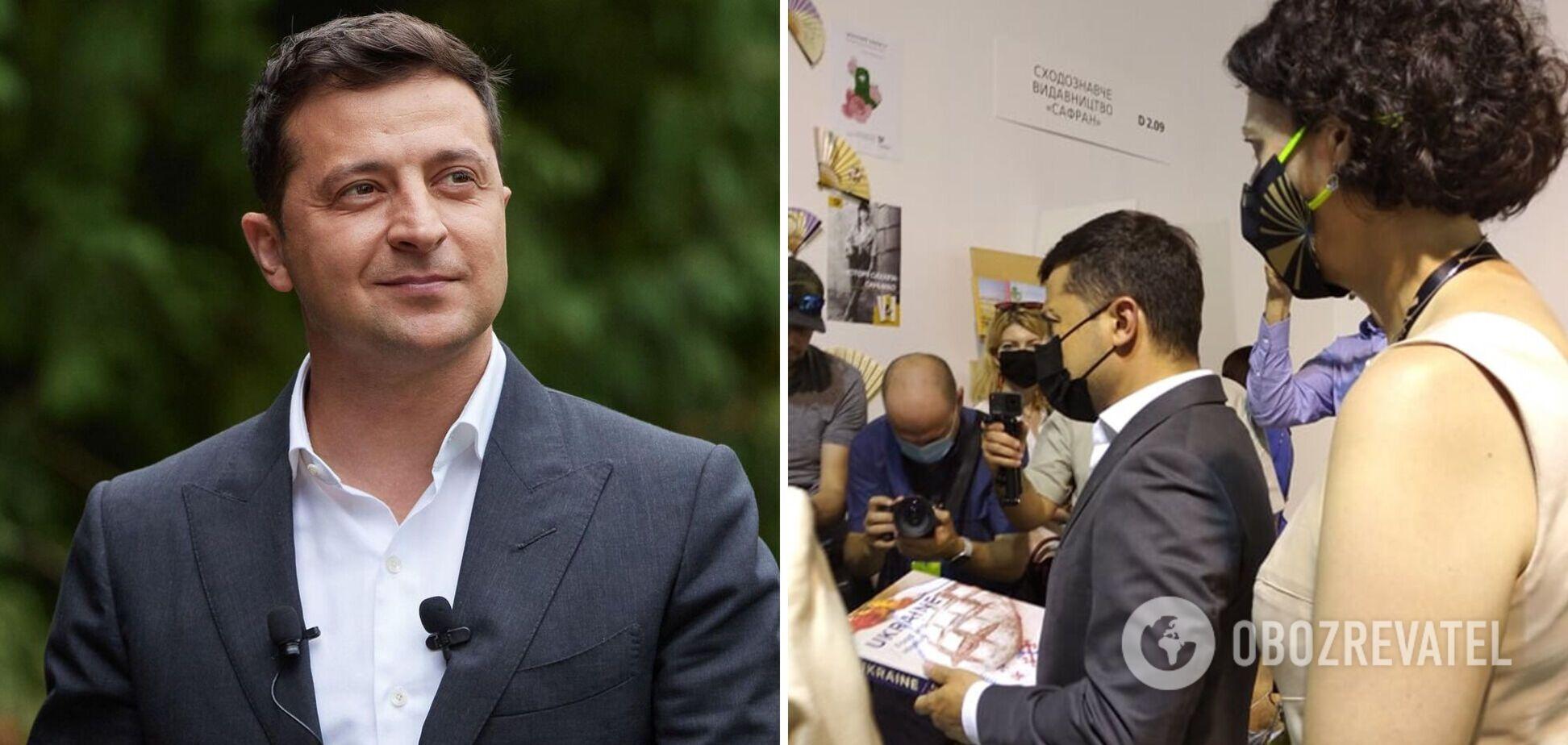 Владимир Зеленский посетил Десятый международный фестиваль 'Книжный Арсенал'