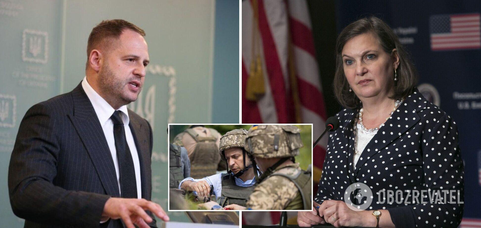 Єрмак обговорив із Нуланд майбутній візит Зеленського в США і ситуацію на Донбасі