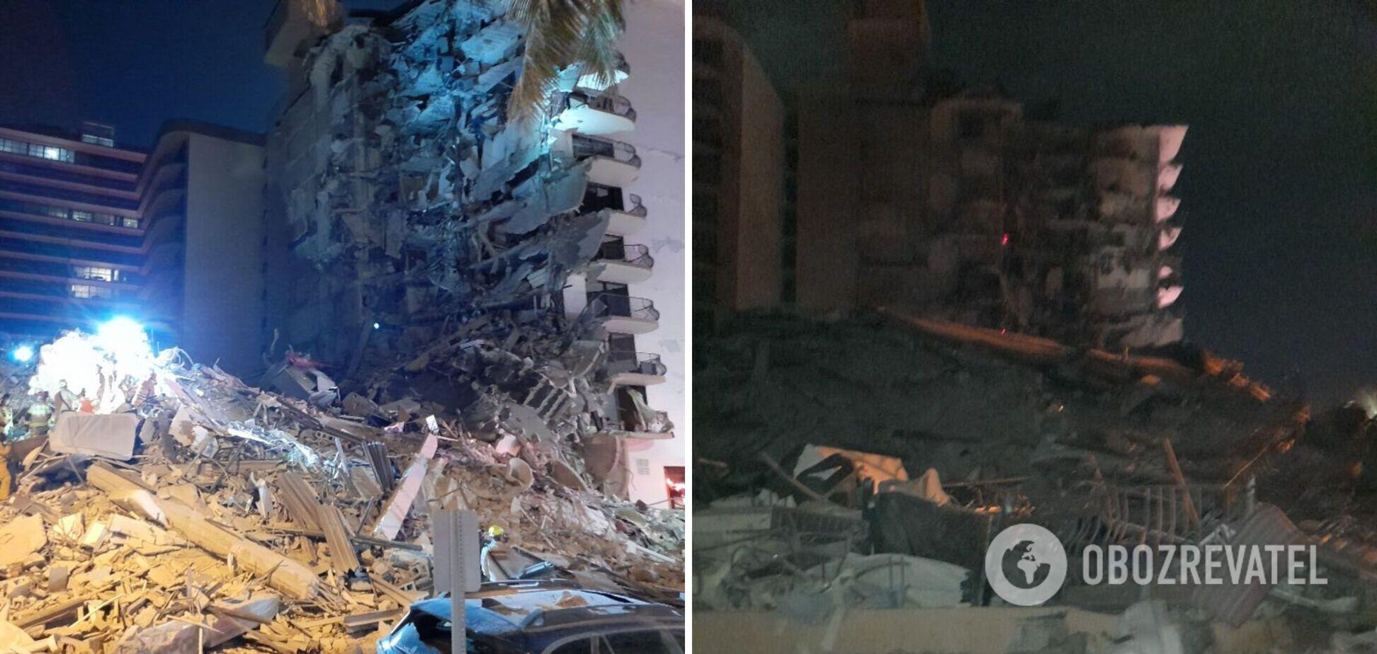 Возле Майами рухнул 12-этажный дом, под завалами ищут людей. Фото и видео