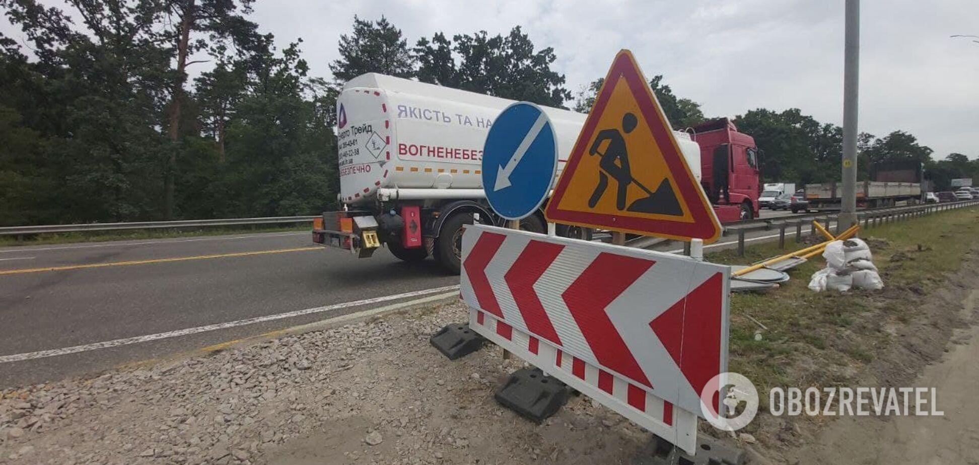 В Киеве перекрыли дорогу в аэропорт 'Борисполь'