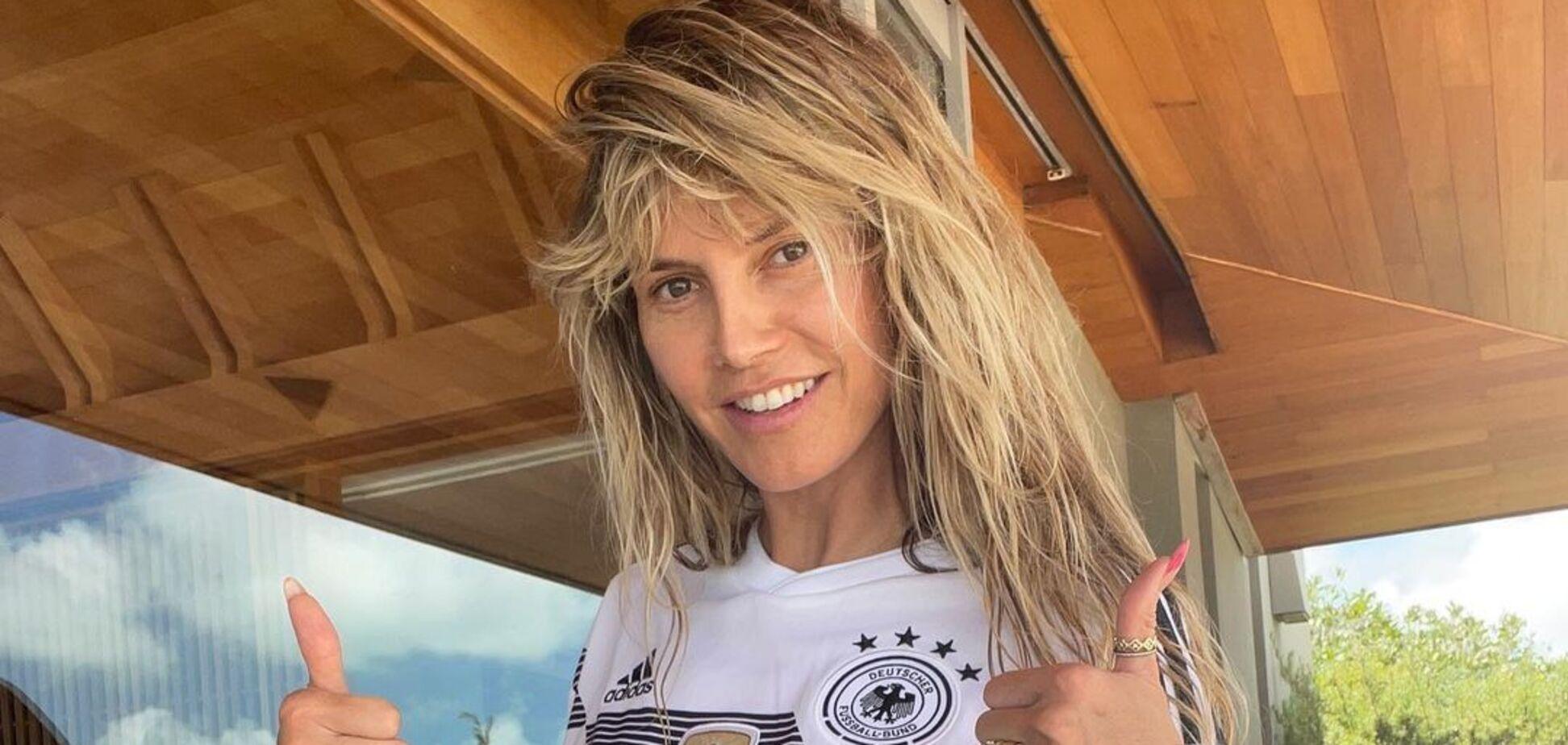 48-річна Гайді Клум позувала топлес на пляжі. Фото