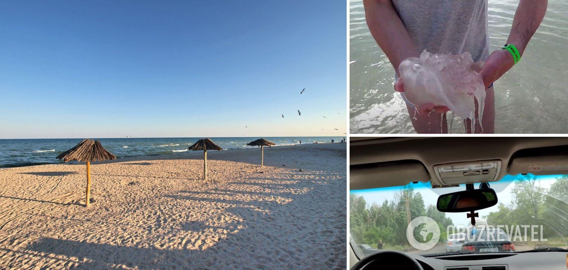 Туристи 'штурмують' курортну Кирилівку, незважаючи на появу медуз. Свіжі фото та відео