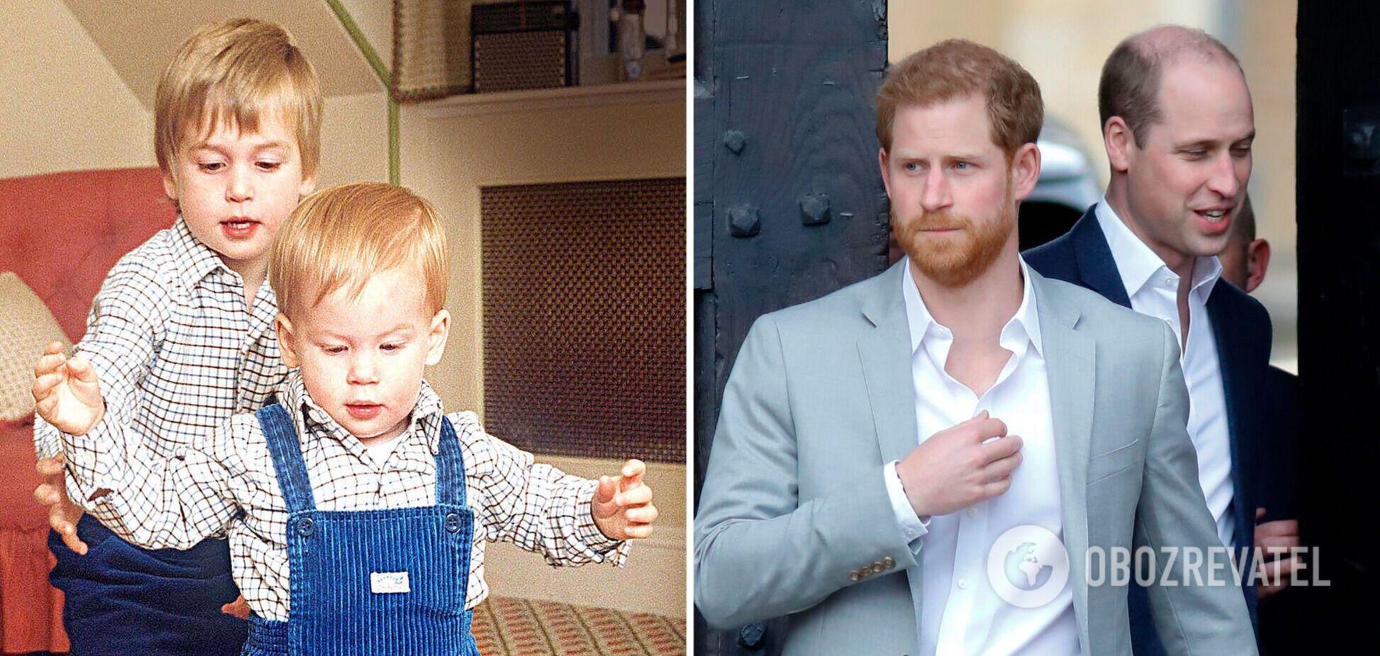 Как менялись принцы Гарри и Уильям: фото герцогов на протяжении жизни