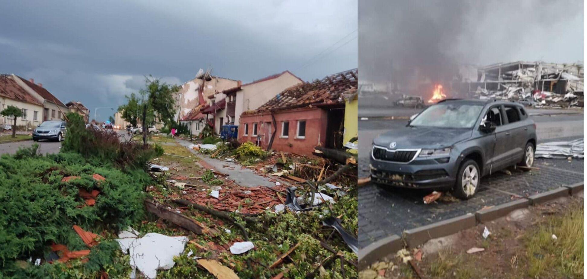 Чехією пройшовся ураган: постраждали міста та села семи районів