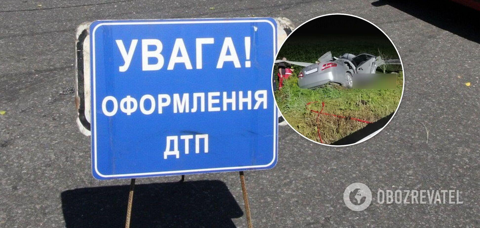 У Донецькій області авто влетіло у відбійник, загинули дві людини. Фото