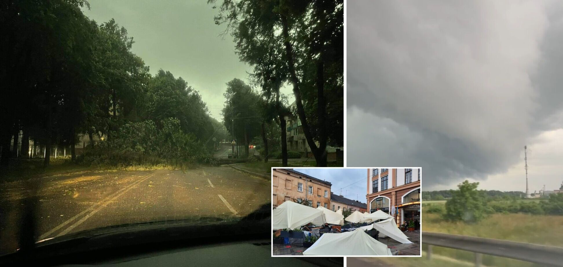 Затопленные улицы, поваленные деревья и задержка поездов: в Украине бушевала непогода