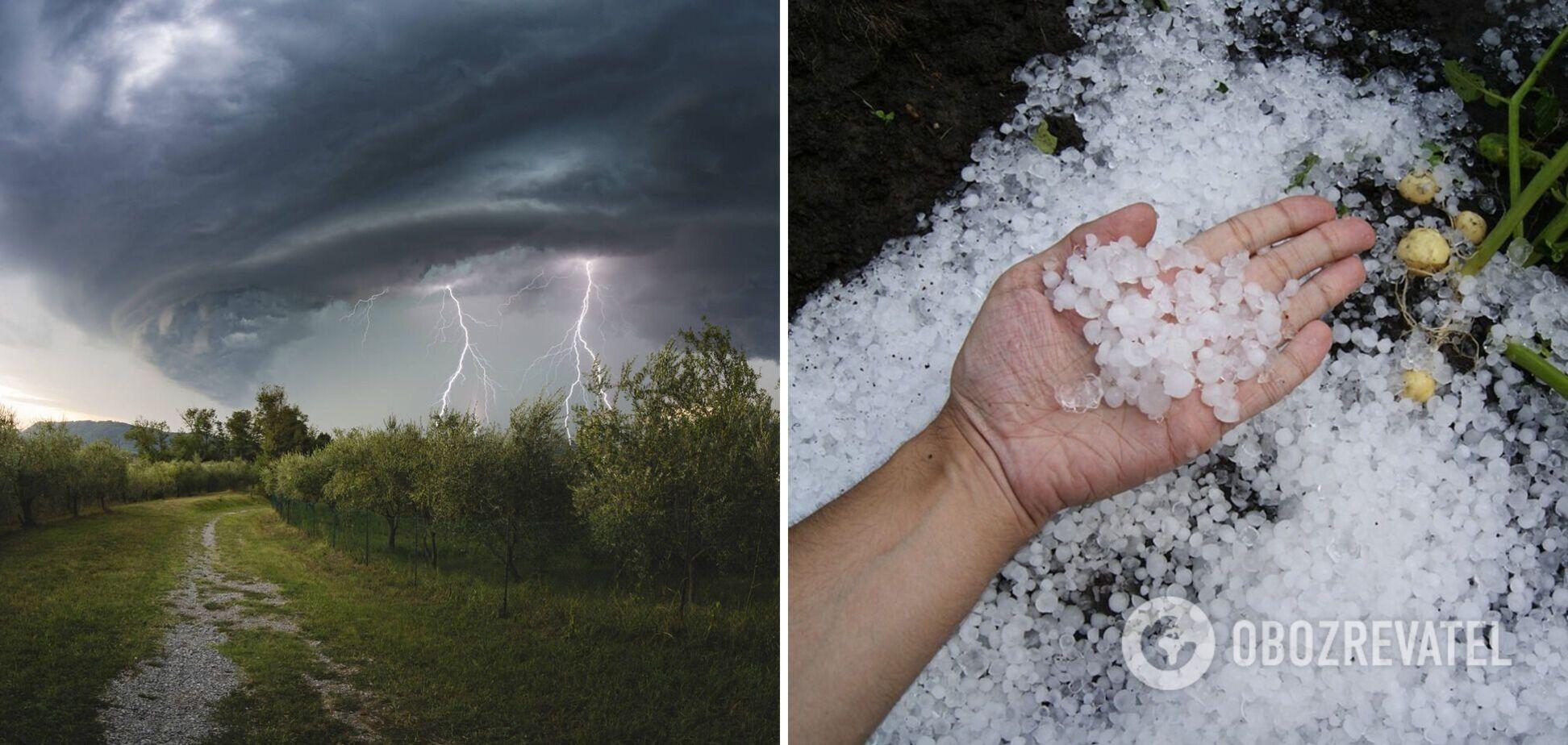 В Україні прогнозують бурю і град
