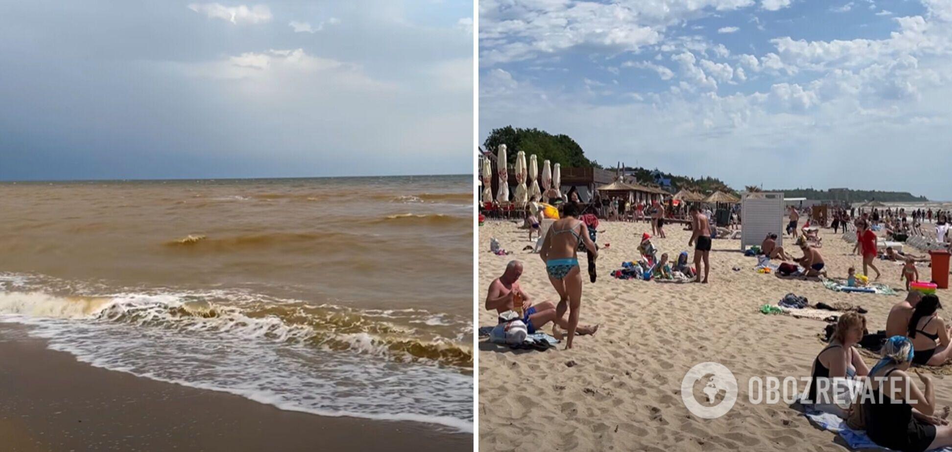 Вода руда, але пляжі забиті: турист розповів про бюджетний відпочинок на Азовському морі. Відео