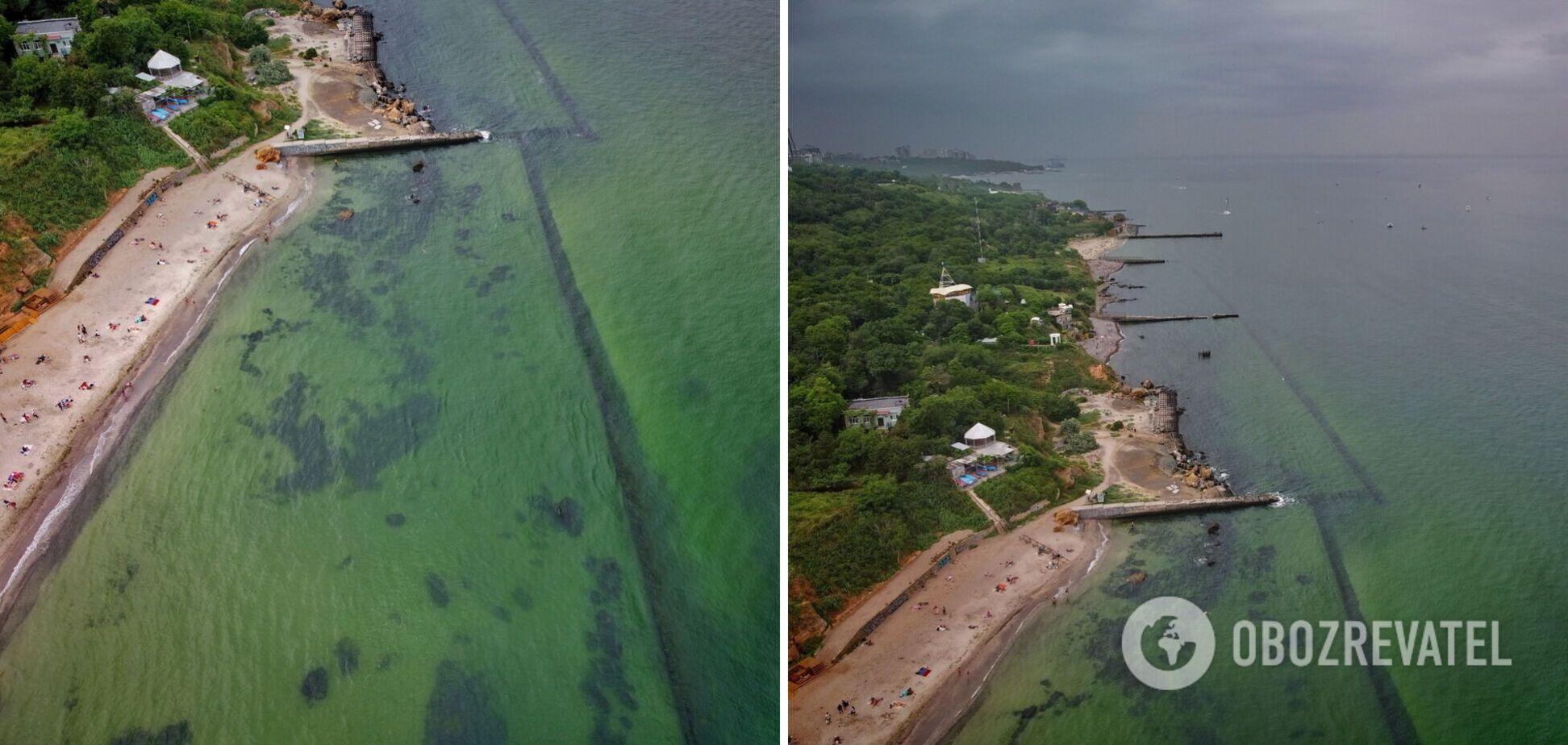 В Одесі море змінило колір, туристи скаржаться на незручності. Фото та відео з пляжів