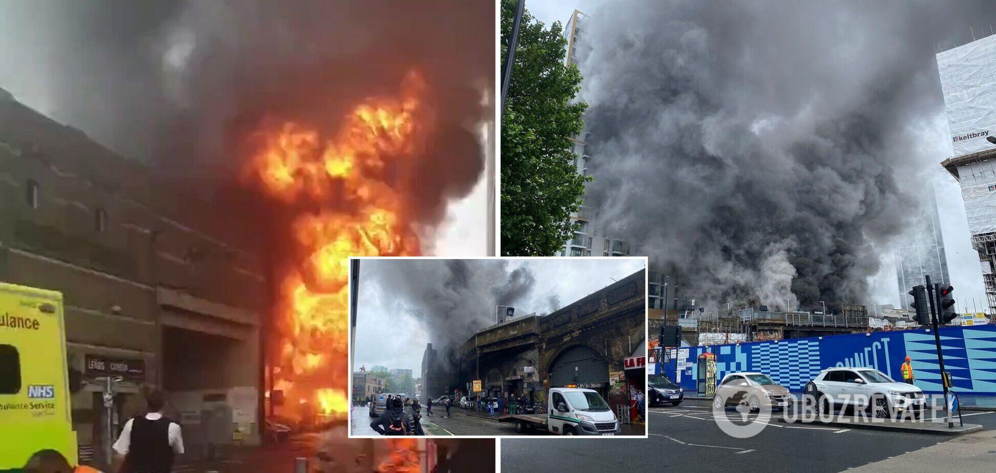 В метро Лондона прогремел масштабный взрыв и вспыхнул пожар. Фото и видео ЧП