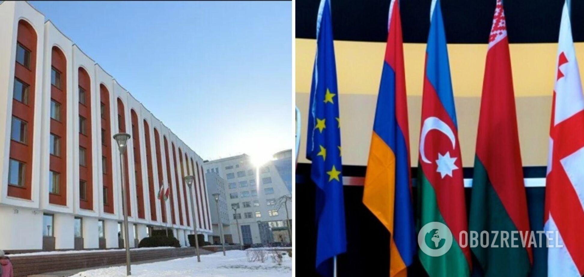 В МИД Беларуси заявили, что приостанавливают участие в 'Восточном партнерстве'