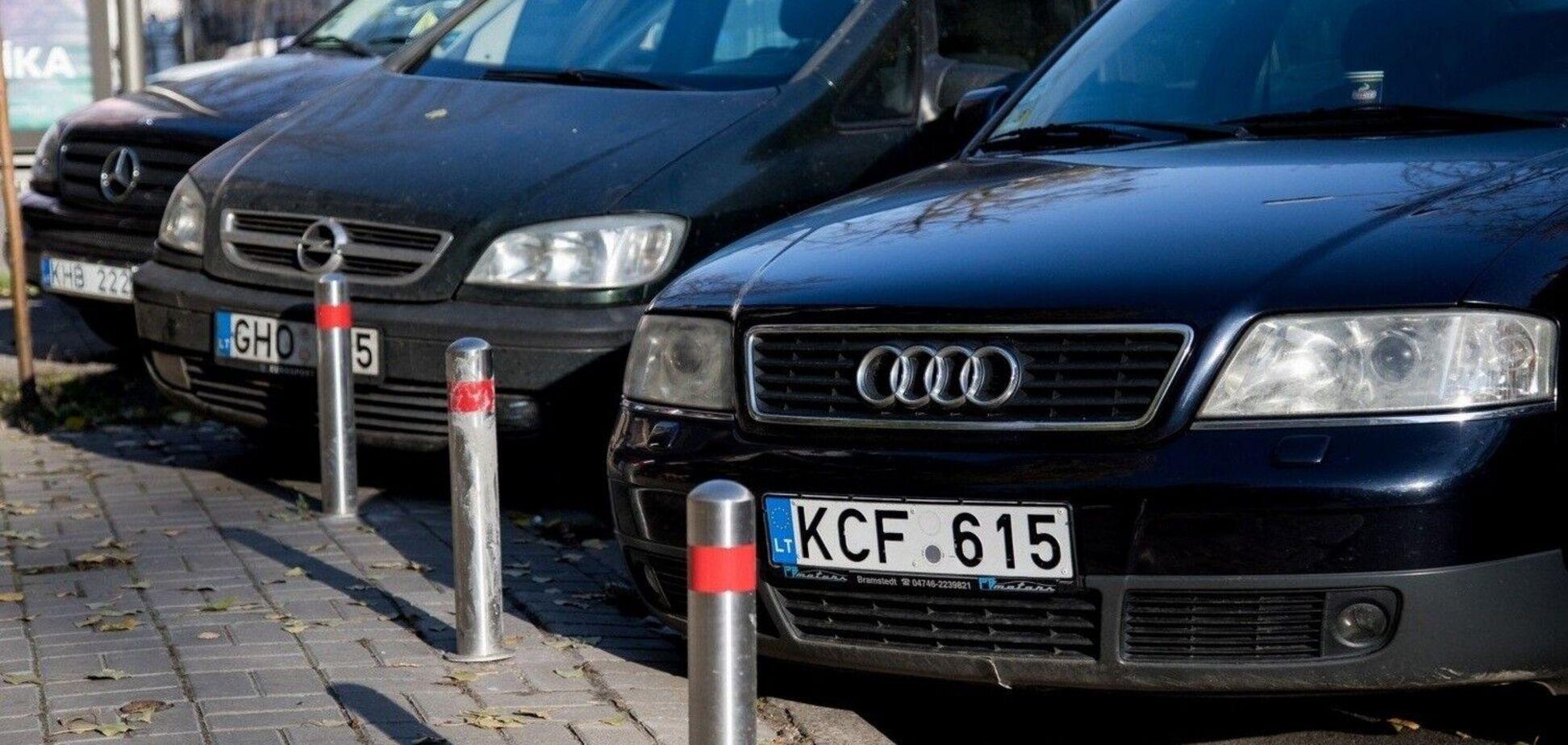 Автомобілі з іноземною реєстрацією